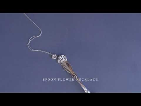 The Making of Silver Spoon Jewelry: Spoon Flower Necklace