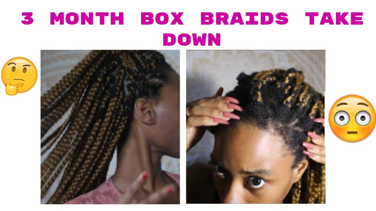 What Wearing Box Braids For 3 Months Did To My Hair - YouTube