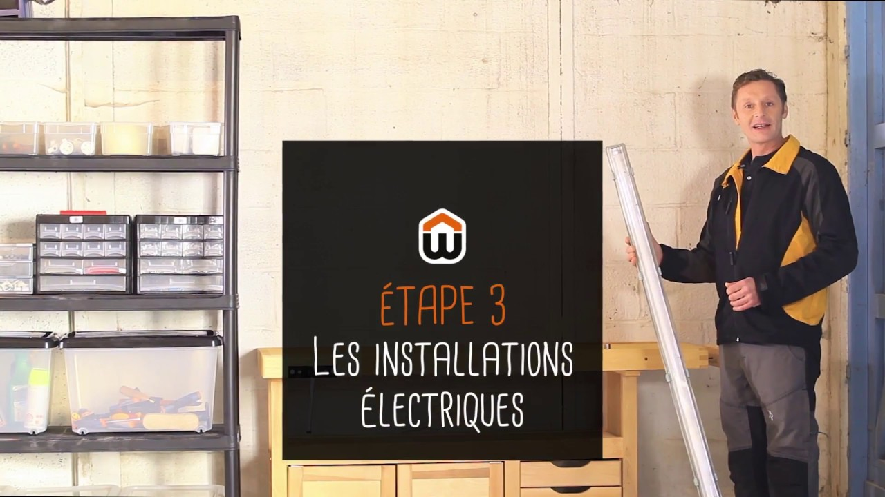installer un atelier dans son garage youtube. Black Bedroom Furniture Sets. Home Design Ideas