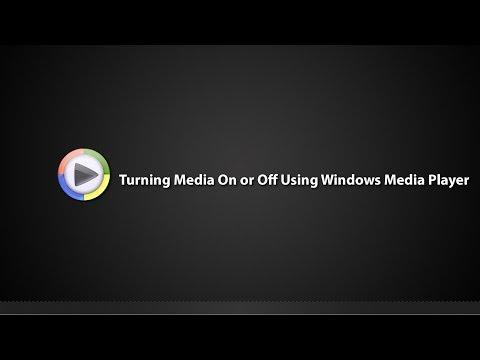 Tutorial - Turning Media Streaming On or Off using Windows Media Player