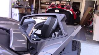 assault mirror trim kit for the polaris slingshot