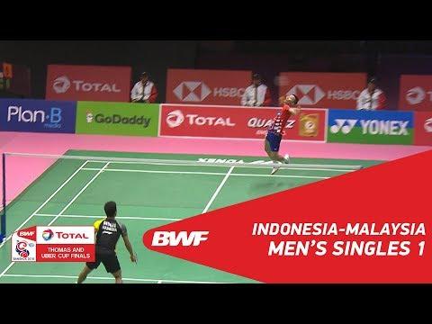 Thomas Cup   MS1   Anthony Sinisuka GINTING (INA) vs LEE Chong Wei (MAS)   BWF 2018