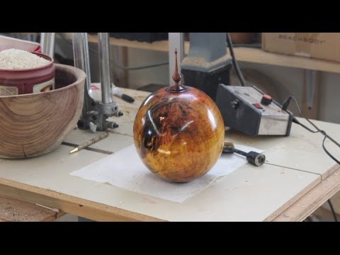 Measuring the Volume of a Burial Urn: woodturning