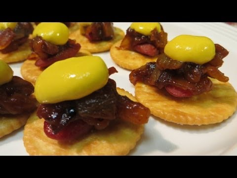 Hot Dogs Push Cart Hot Dog Bites Easy Appetizer Recipe Youtube