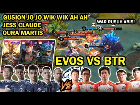 DUEL STRATEGI TERGILA! EVOS VS BTR! EVOS DIKASI 3 HERO OVERPOWER! AMAZING GAMEPLAY!
