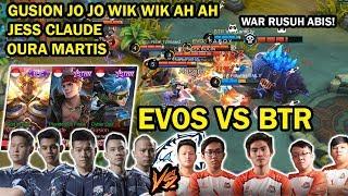 DUEL STRATEGI TERGILA! EVOS VS BTR! EVOS DIKASI 3 HERO OVERPOWER! AMAZING GAMEPLAY!