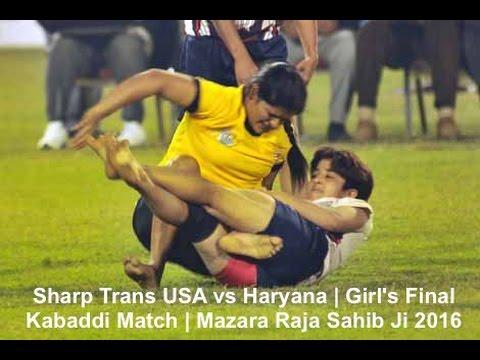 Sharp Trans USA vs Haryana | Girl's Final Kabaddi Match | Mazara Raja Sahib Ji 2016 (Part 1)