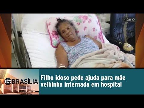 Filho idoso pede ajudar para mãe velhinha internada em hospital
