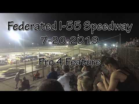 Federated I-55 Speedway Pro 4 Feature July 20 2019