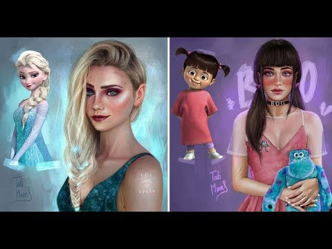 A Spanish Artist Reimagines Cartoon Characters in a Realistic Style
