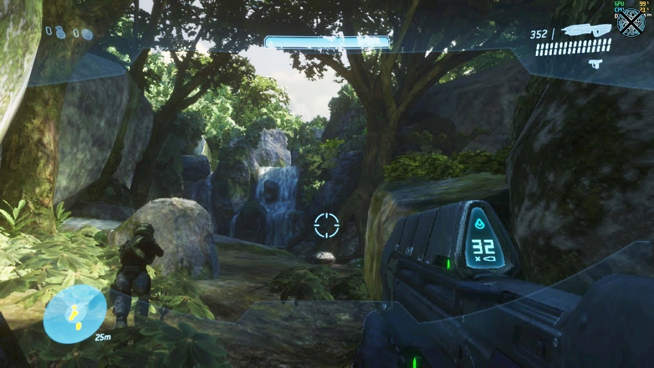 Xenia Xbox 360 Emulator - Halo 3 Ingame / Gameplay! (DX12 WIP)