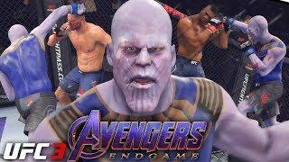 EA UFC 3: Avengers Endgame Thanos Knocks Everyone Out! EA Sports UFC 3 Gameplay