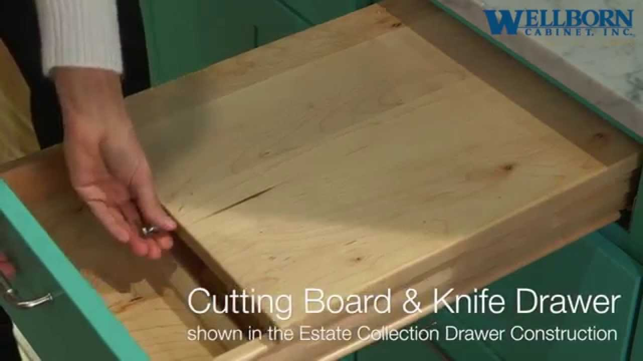 Storage Solutions Cutting Board And Knife Drawer