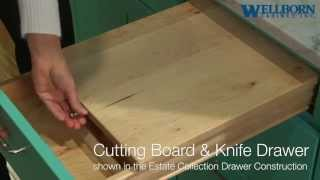 Storage Solutions - Cutting Board And Knife Drawer - Estate Collection