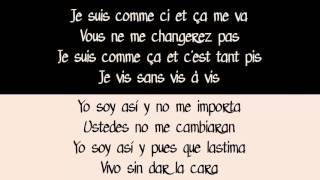 Zaz Comme Ci Comme ça Con Letra Español Frances