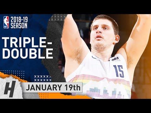 Nikola Jokic Triple-Double Highlights Nuggets vs Cavaliers 2019.01.19 - 19 Pts, 12 Ast, 11 Reb