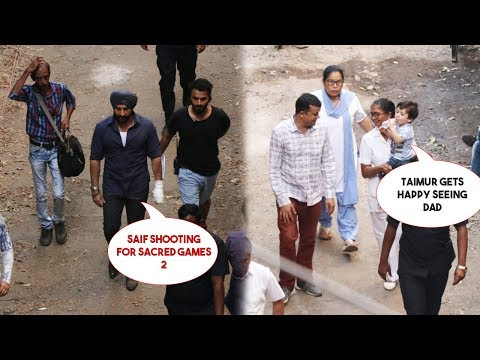Taimur Ali Khan Gets Excited Seeing Dad Saif Ali Khan Acting Live For Sacred Games 2