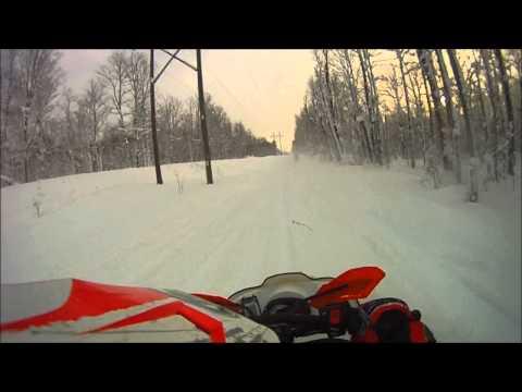 Snowmobiling U.P. 2013   Part One
