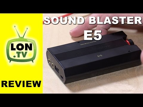 Sound Blaster E5 Review - 192khz external USB sound card for PC, Mac, iOS, and Android