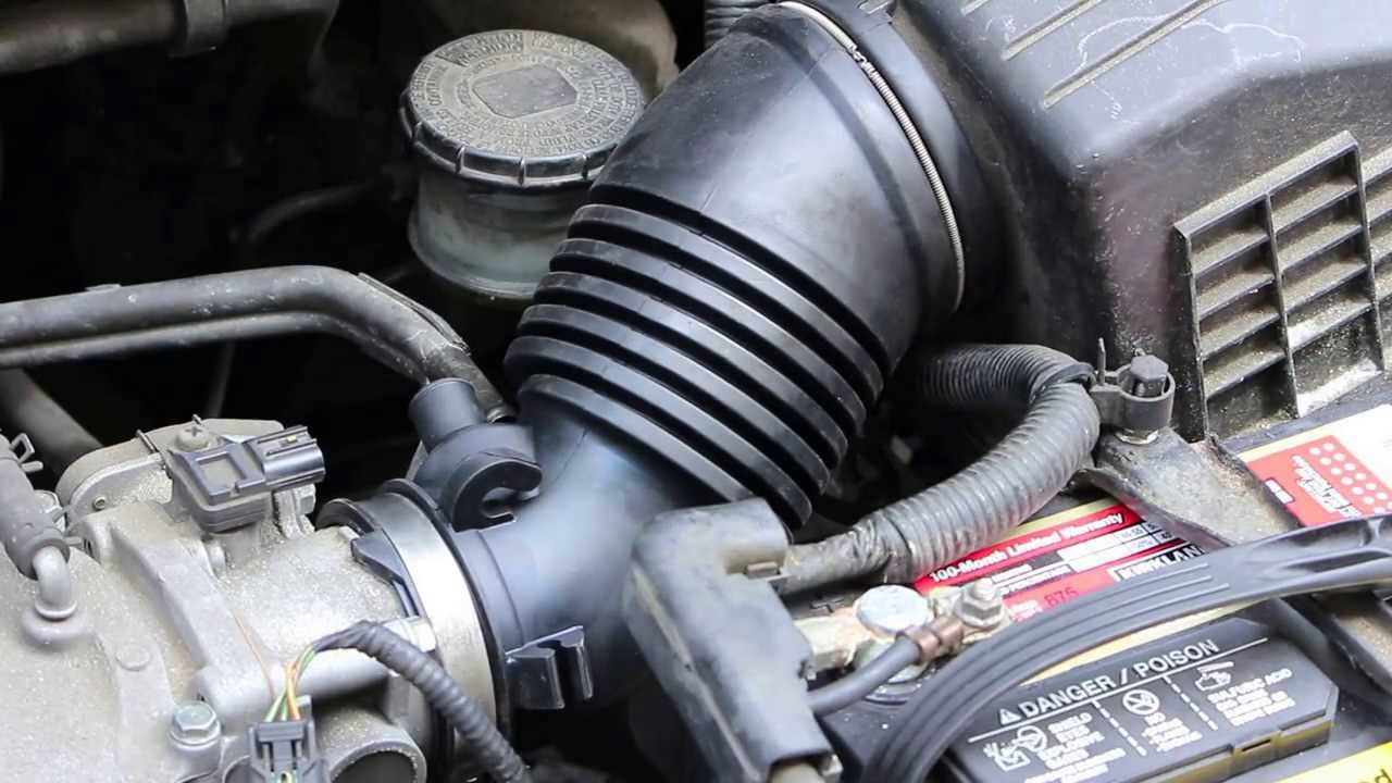 Repair Replace Honda Odyssey Intake Tube Hose 2005 2010  YouTube