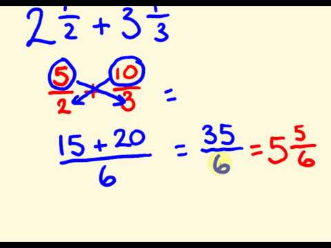 Download Fractions addition and subtraction the fast way with mixed numbers - cool math trick! Mp4 baru