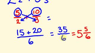 Fractions addition and subtraction the fast way with mixed numbers - cool math trick!