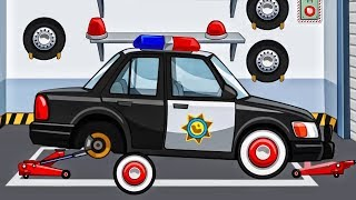 Police Car. Police Helicopter   Cars for Kids: My Town Police Station   App for Kids Android