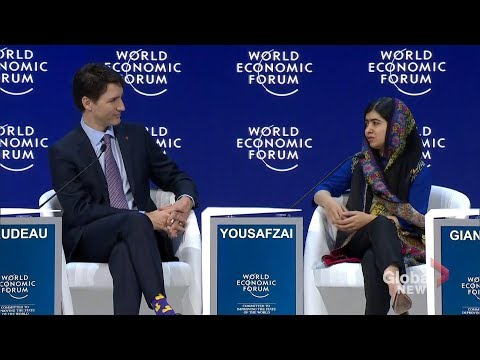 Malala Yousafzai and Justin Trudeau talk education and women's empowerment at WEF