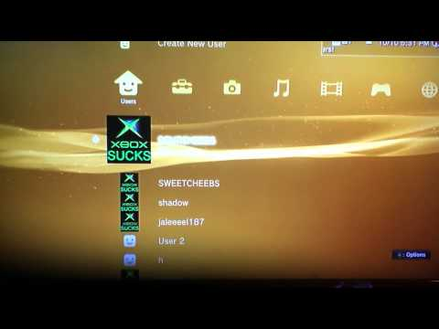 How to delete user on ps3