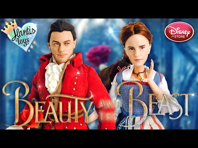 Disney Beauty and The Beast Live Action Belle & Gaston Doll Review | Disney Store Film Collection