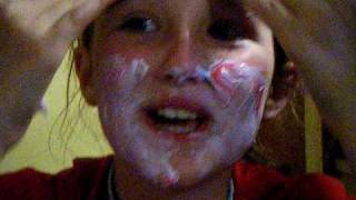 Girl addicted to toothpaste!