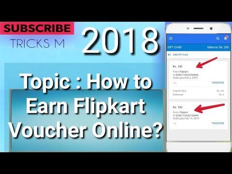 how to Earn Flipkart Gift Voucher online 2018?