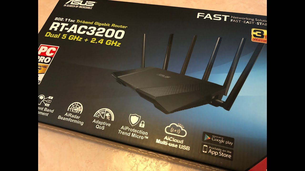 Unboxing Asus Rt Ac3200 Youtube Tri Band Wireless Gigabit Router