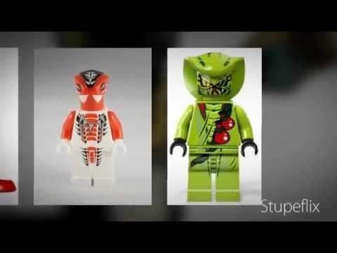 Lego Ninjago ALL OF THE SNAKES MINIFIGURE! (2012) - YouTube