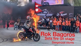 rok bagoros stunts in nepal the ktm bike vlog viral stunts