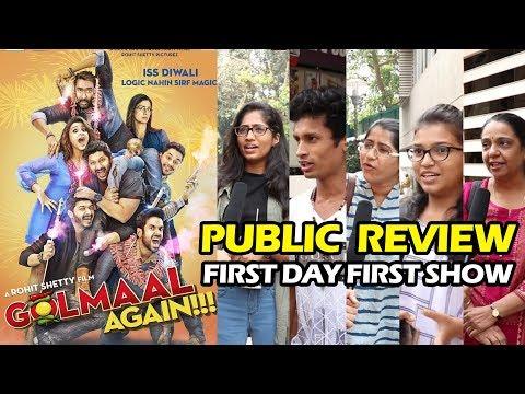 Golmaal Again PUBLIC REVIEW | First Day First Show | Ajay Devgn, Parineeti, Arshad, Tabu