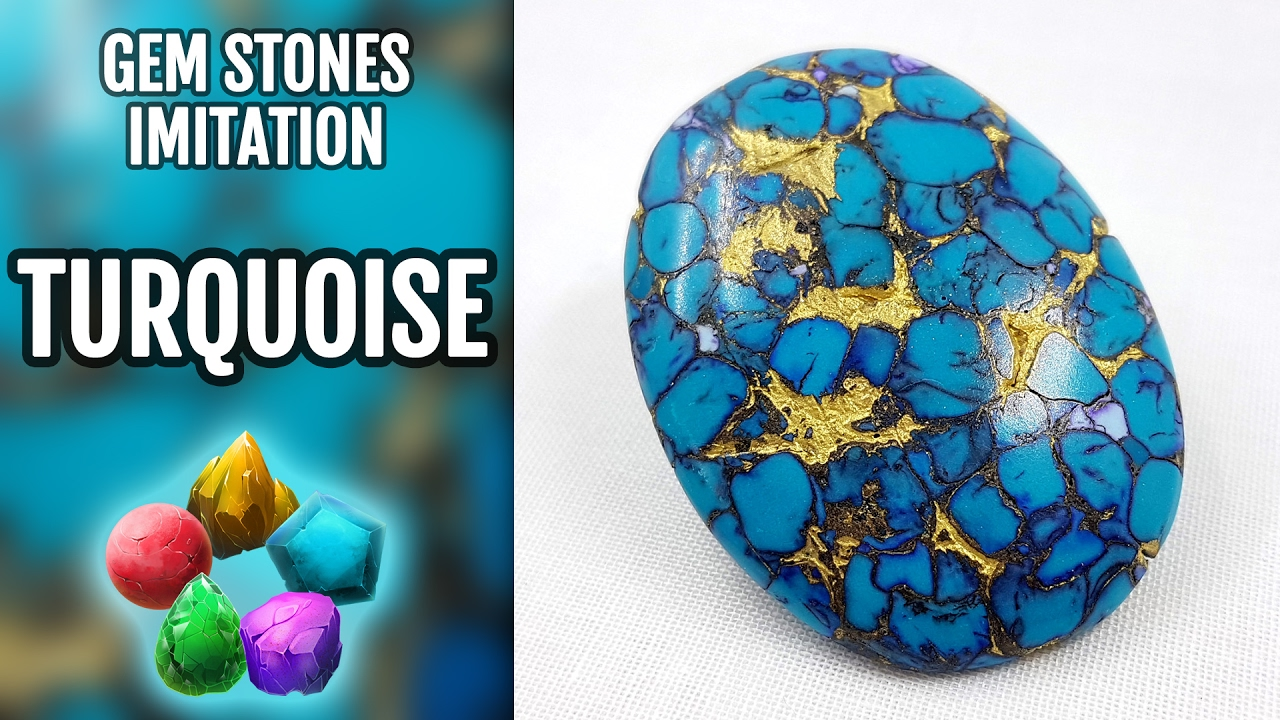 DIY How to make Realistic Natural Turquoise Stone. Stone imitation ...