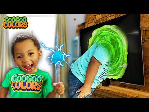 Goo Goo Gaga Stuck In Magic TV Shop for Healthy Foods and Cool Adventure Toys