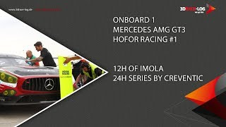 Mercedes AMG GT3, Team Hofor-Racing #1, 12h Imola 2018, Race Part 2
