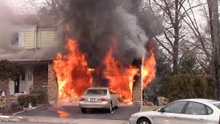 Clifton Fire Department 2nd Alarm Fully Involved Attached Garage Fire Coppola Ct 2-10-18 thumbnail