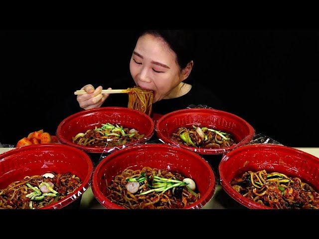 볶음짬뽕 5그릇 먹방 Mukbang Eating Sound