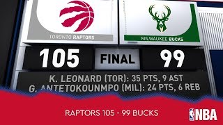 Toronto Raptors 105 - 99 Milwaukee Bucks