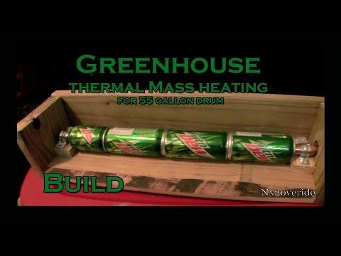 Greenhouse Thermal Mass Heating Idea - Build