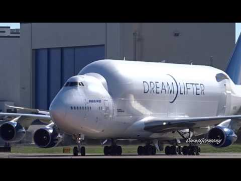 Boeing 747 LCF DreamLifter Touch Down @ KPAE Paine Field