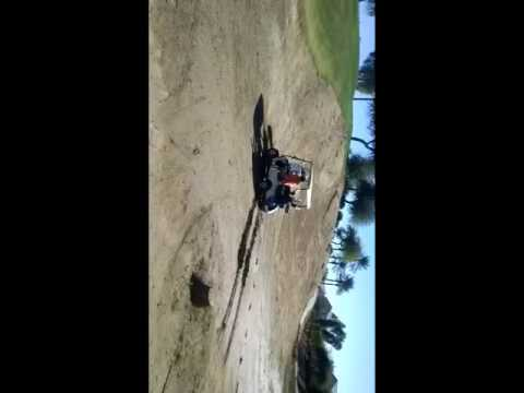 Golfing in the mud