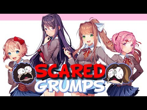 Game Grumps Compilation-Doki Doki Literature Club Creepiest/Scariest Moments