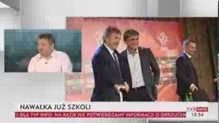 Paweł Zarzeczny i Hubert Zdankiewicz o polskiej piłce (TVP Info, )