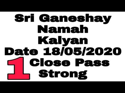 Date 18/05/2020 Kalyan Strong Never Fail Fix Ank Or Jodi ( Sona Matka )