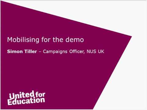 NUS Scotland - United for Education: The Road to the National Demo