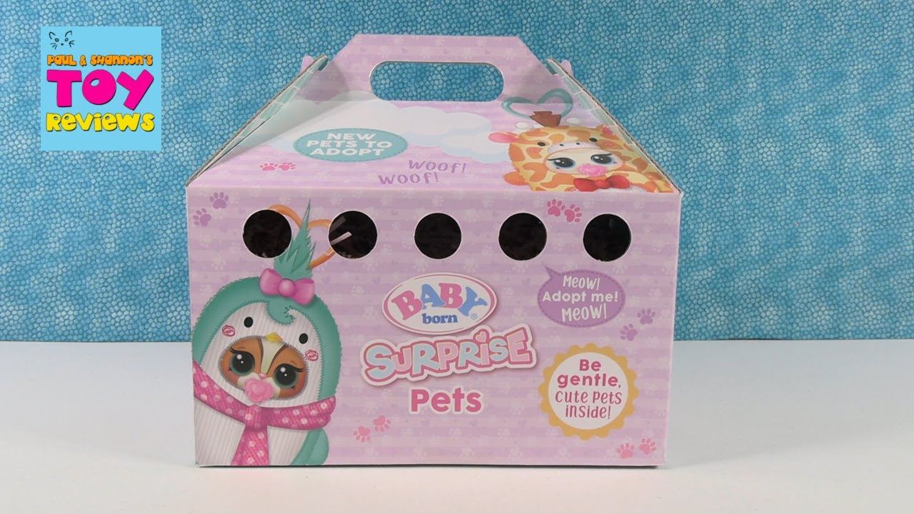 Baby Born Surprise Pets Adoption Animals Blind Bag Review Opening   PSToyReviews